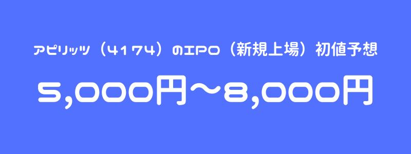 アピリッツ(4174)のIPO(新規上場)初値予想