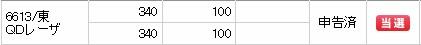 QDレーザ(6613)IPO当選SMBC日興証券