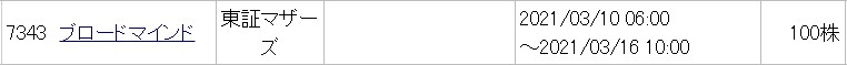 ブロードマインド(7343)IPOみずほ証券委託