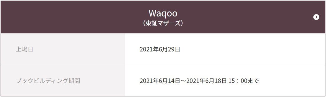 Waqoo(4937)IPOCONNECT(コネクト)