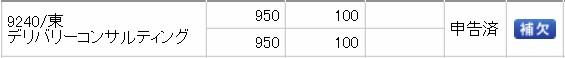 デリバリーコンサルティング(9240)IPO補欠SMBC日興証券