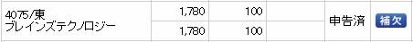 ブレインズテクノロジー(4075)IPO補欠SMBC日興証券