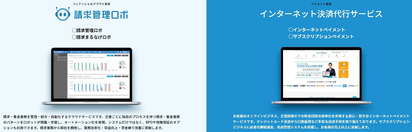 ROBOT PAYMENT(4374)IPOサービス内容